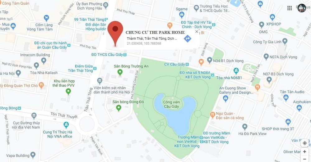 chung cư the park home vị trí đẹp nhất cầu giấy
